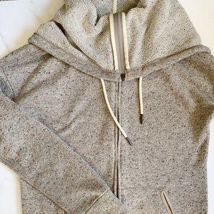 Cowl Neck Zip Up Sweater